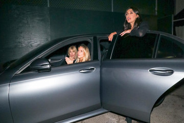 Lisa Gastineau Jessica Canseco And Brittny Gastineau Outside Craig's Restaurant In West Hollywood