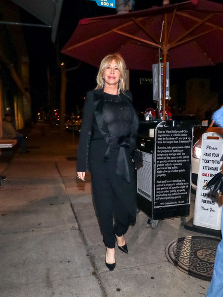 Lisa Gastineau Outside Craig's Restaurant In West Hollywood