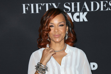 Lisa Raye McCoy Celebrities Attend the 'Fifty Shades of Black Premiere'