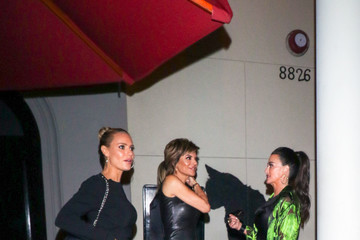 Lisa Rinna Lisa Rinna And Kyle Richards Outside Craig's Restaurant In West Hollywood