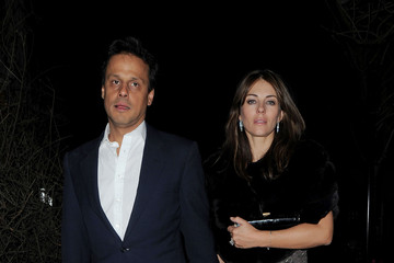 Arun Nayer Elizabeth Hurley and Arun Nayer Leave Cipriani