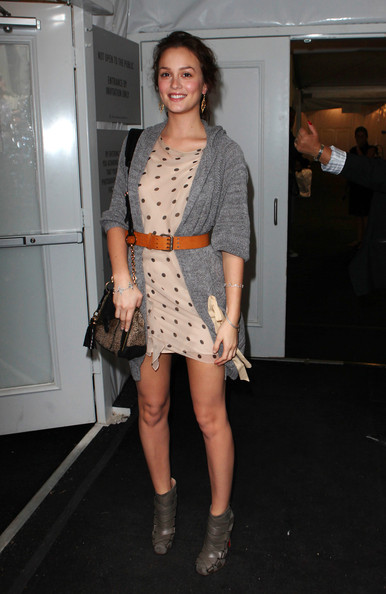 Leighton Meester Mercedes-Benz Fashion Week .