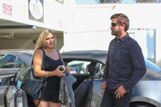 Lorenzo Lamas and Shawna Craig go to doctors appointment at Natural Birth Center in Los Angeles.