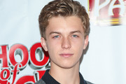 Jacob Hopkins is seen attending the Los Angeles Premiere of 'School of Rock' The Musical at the Pantages Theatre in Los Angeles, California.