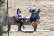 Lucy Hale Takes Her Dog To The Park