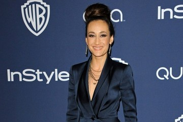 Maggie Q Arrivals at the InStyle/Warner Bros. Golden Globes Party