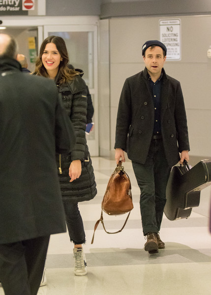 Mandy Moore And Taylor Goldsmith At Jfk International Airport
