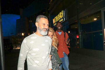 Marc Silverstein Marc Silverstein And Busy Philipps Outside ArcLight Theatre