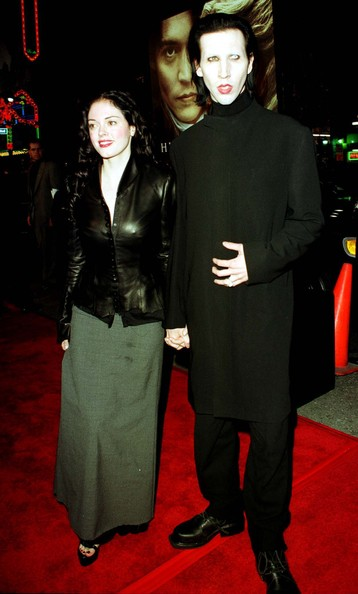 rose mcgowan and marilyn manson. Rose McGowan and Marilyn