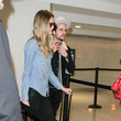 Martha Patterson Jared Followill and Martha Patterson Are Seen at LAX