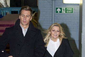 Matt Evers Suzanne Shaw and Matt Evers at the ITV Studios