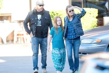 Matthew Carnahan Helen Hunt Out with Family
