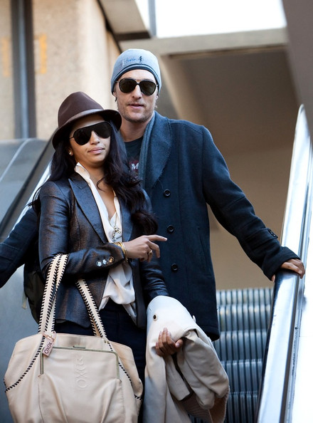 Matthew McConaughey Matthew McConaughey and Camila Alves arrive at LAX (Los Angeles International Airport).
