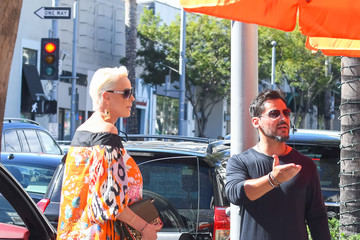 Mattia Dessi Brigitte Nielsen Runs Errands In Los Angeles
