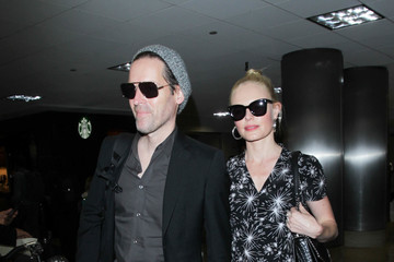 Michael Polish Kate Bosworth and Michael Polish Are Seen at LAX