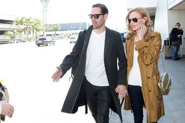 Michael Polish Kate Bosworth and Michael Polish at LAX