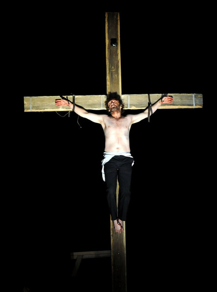 "Michael Sheen Michael Sheen returns to his hometown of Port Talbot to take on a 72-hour performance as Jesus Christ in a community production of ""The Passion."" Sheen remained in character for three days, beginning on Good Friday with the baptism of Christ, and completing the marathon performance with the graphic crucifixion before a crowd of thousands."