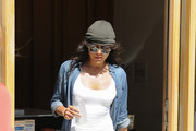 Michelle Rodriguez Gets Juiced Up