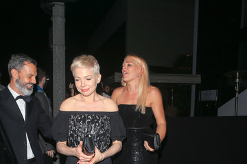 Michelle Williams Michelle Williams and Busy Philipps Leaving 75th Annual Golden Globe Awards Post-Party