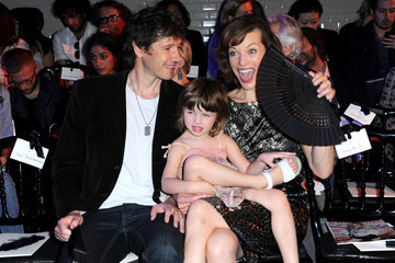Mila Jovovich Mila Jovovich and Family at the Jean Paul Gaultier Fall-Winter 2011/ 2012 Couture Show