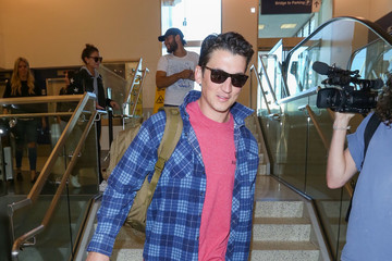 Miles Teller Miles Teller at LAX International Airport