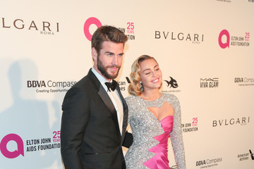 Miley Cyrus Liam Hemsworth 26th Annual Elton John AIDS Foundation's Academy Awards Viewing Party