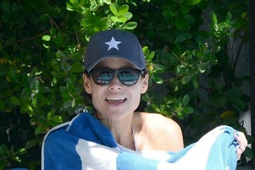 Minnie Driver Minnie Driver and Her Son Play at the Pool