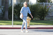 Molly Sims out and about..
