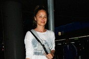 Moon Bloodgood is seen at LAX