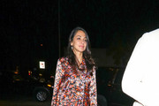 Moran Atias outside Craig's Restaurant in West Hollywood