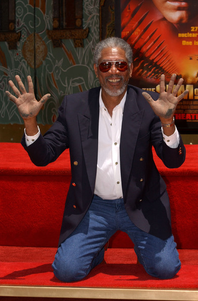 Morgan Freeman Hand and Footprint Ceremony - Zimbio