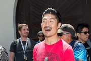 'Mortal Kombat' stars Brian Tee and Ian Anthony Dale hang out at Comic-Con on July 19, 2013.