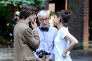 Timothee Chalamet , Woody Allen and Selena Gomez are seen at the movie set of the 'Untitled Woody Allen Project'.