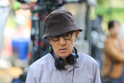 Woody Allen is seen at the movie set of the 'Untitled Woody Allen Project'.