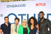 Frank De Julio, Jake Hoffman, Patricia Arquette, Angela Bassett and Sinqua Walls are seen attending the Netflix Premiere of 'Otherhood' at the Egyptian Theater in Los Angeles, California.