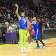 Nick Young Ace Family Chris Brown Basketball Charity Event at Staples Center