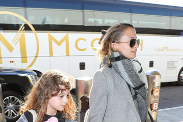 Nicole Richie Nicole Richie and Daughter Harlow Are Seen at LAX