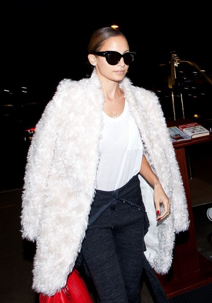 Nicole Richie is seen arriving at LAX airport.