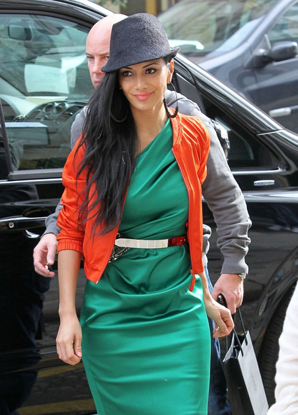 Nicole Scherzinger Nicole Scherzinger takes in the sights of Paris including the Palais Royal and the Buren Columns (Colonnes de Buren)  .