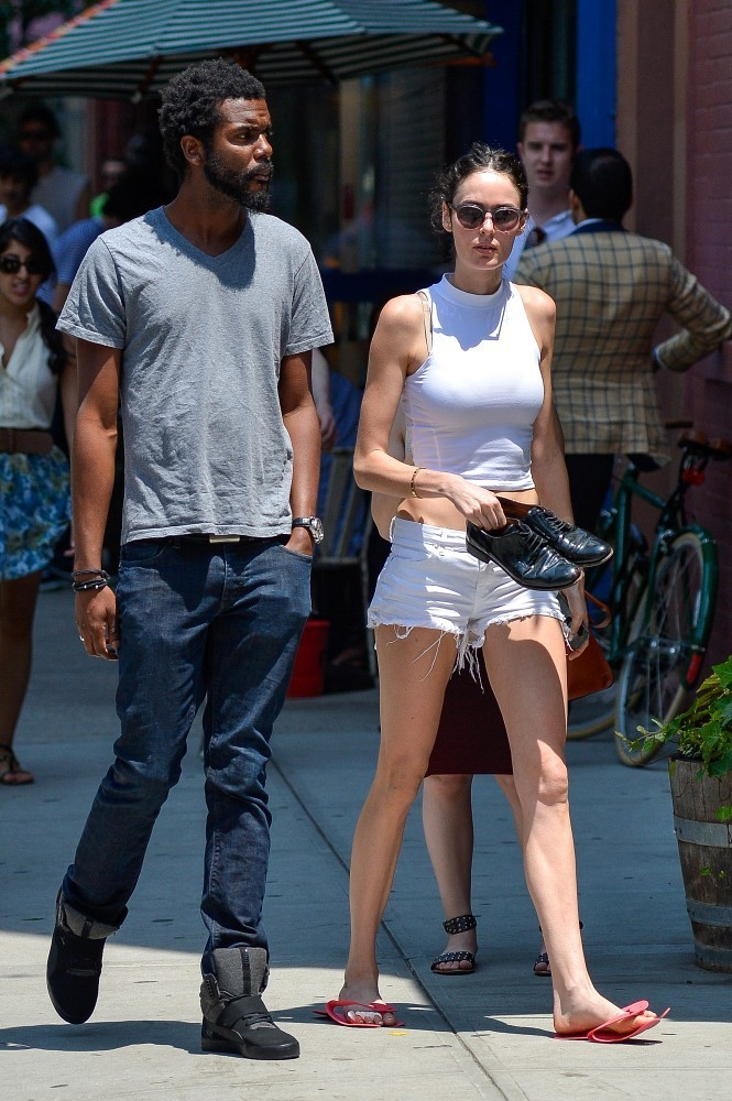 nicole trunfio and gary clarke jr have lunch   zimbio