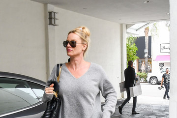 Nicollette Sheridan Nicollette Sheridan Takes Her Dog, Oliver, For A Walk