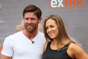 Noah Galloway and Jamie Boyd are seen at 'Extra'.