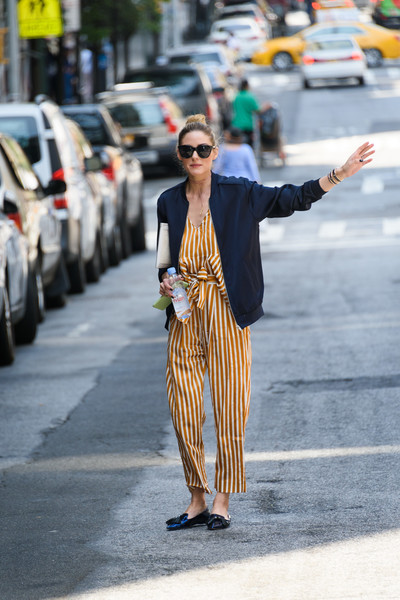 Olivia Palermo Steps Out in Stripes