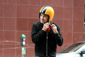 Olivier Martinez Olivier Martinez Out on His Motorcycle