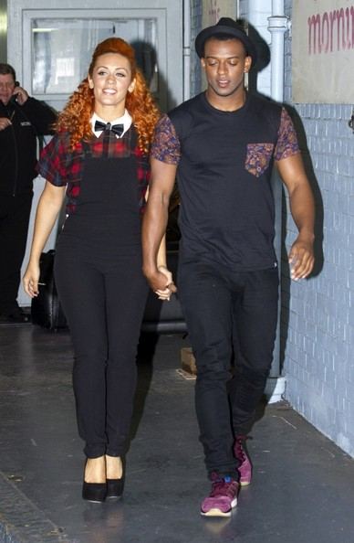 Oritse Williams and His Girlfriend Leave the ITV Studios