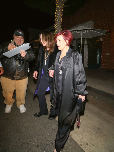 Sharon Osbourne And Ozzy Osbourne Outside Billy Idol's Birthday Party At Mr Chows Restaurant