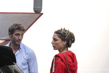 Paloma Bloyd Paloma Bloyd and Daniele Liotti on Set