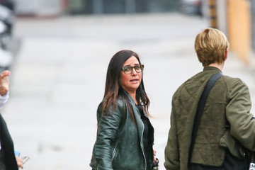 Pamela Adlon Pamela Adlon At 'Jimmy Kimmel Live'