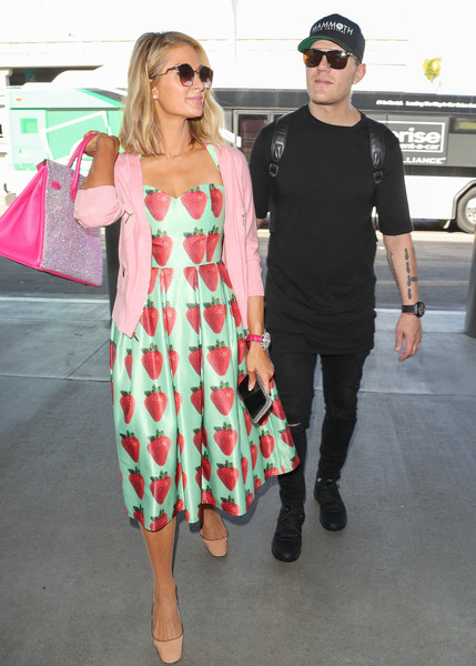 Paris Hilton and Fiance Chris Zylka at LAX International Airport