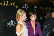 Paris Hilton and Kris Jenner are seen attending Paris Hilton + The Glam App Partnership Event in Los Angeles, California.